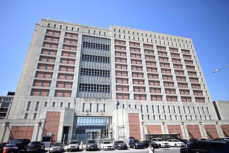 De gevangenis in Brooklyn (NY) waar Maxwell momenteel verblijft.  Beeld AFP