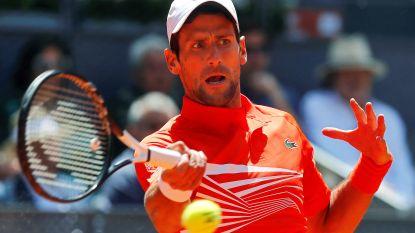 Djokovic en Nadal naar kwartfinales in Madrid, ook Federer door (maar hij moest wel twee matchballen redden)