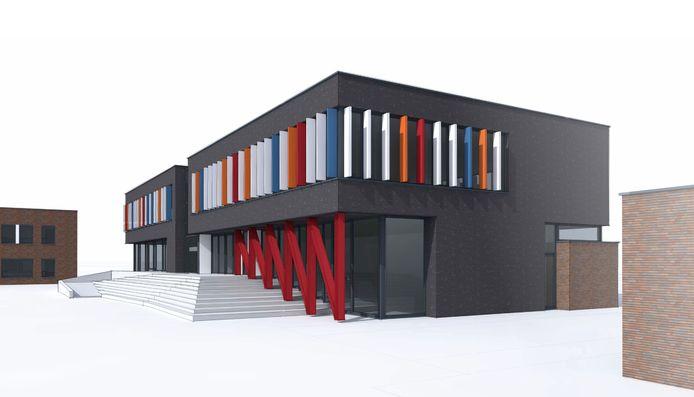 Impressie nieuwbouw lesgebouw