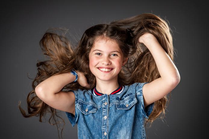 De 'voor'-foto van de 10-jarige Victoria uit Hazerswoude