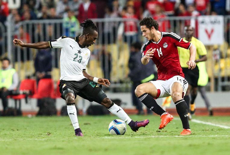 Harrison Afful (L), vleugel-verdediger bij Ghana. Beeld getty