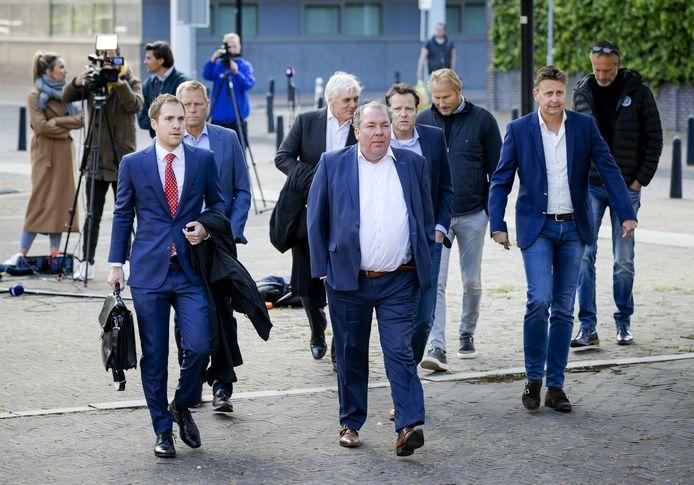 De delegatie van SC Cambuur en De Graafschap gisteren bij de rechtbank.
