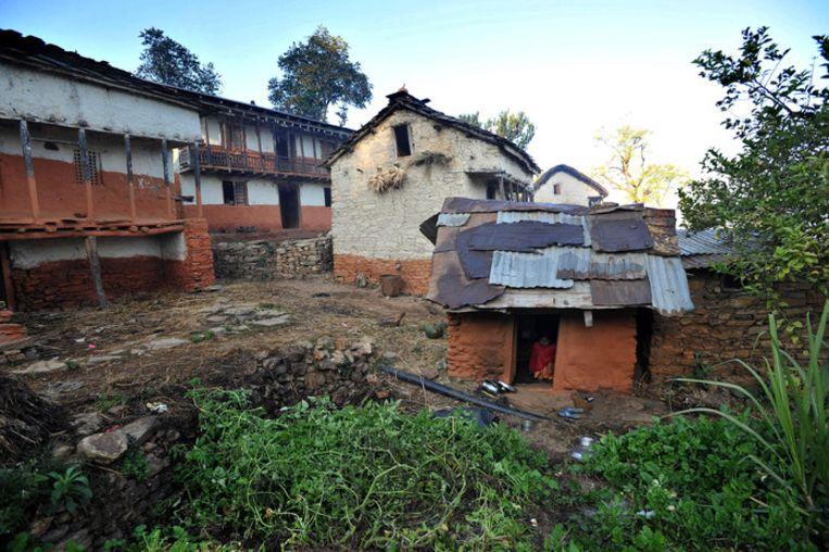 Een menstruatiehut in Nepal.