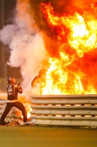 """Romain Grosjean ontsnapt aan de dood nadat F1-wagen in vuurbal verandert: """"Hij had een hele grote engel op de schouder"""""""