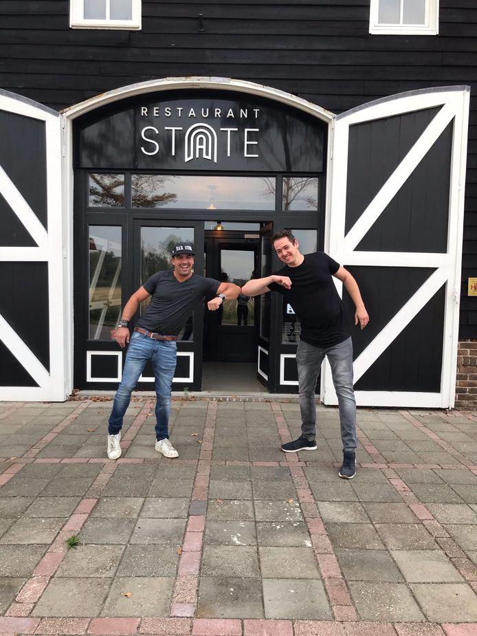 Yannick Mahu (links) van Bar Goed en Michiel van Laere van restaurant State zijn weer dikke maten.
