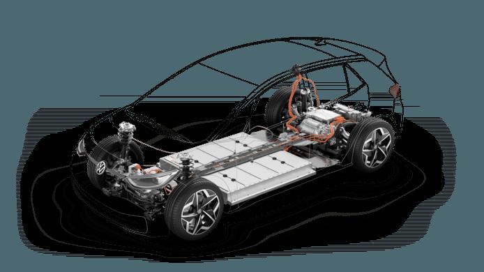 Het onderstel van de VW ID.3