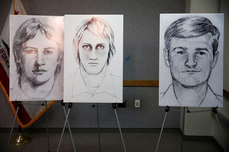 Robotfoto's van de Golden State Killer, samengesteld met de hulp van zijn slachtoffers.