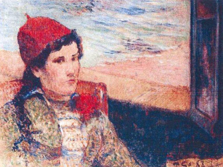 Paul Gauguin: 'Femme devant une fenêtre ouverte, dite la Fiancée' (1888) Beeld