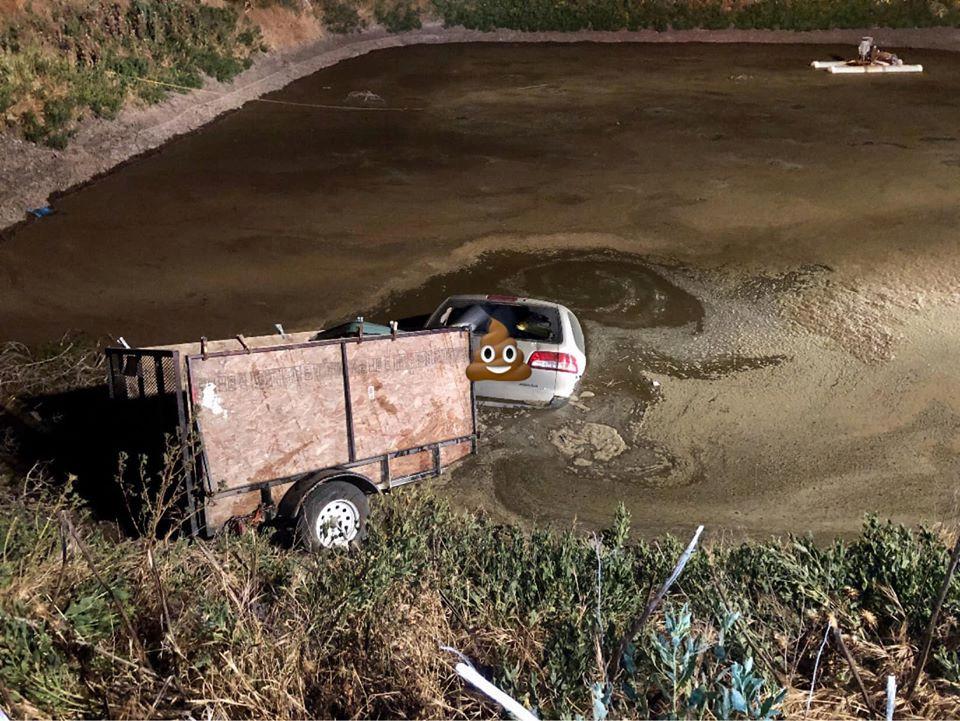 """De politie plaatste deze beelden online: ,,Laat het een waarschuwing zijn voor wie na het nuttigen van alcohol beslist om toch nog met de auto te rijden"""", aldus een woordvoerder."""