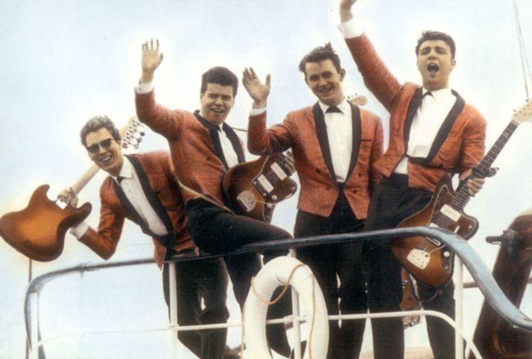 The Jokers in hun gloriejaren, met drummer Gerald Pepermans als tweede van rechts.