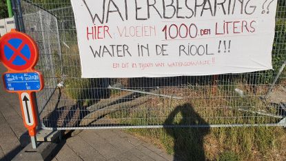 Onbegrijpelijk: terwijl iedereen water moet besparen, stroomt het aan werf Keizershoek met duizenden liters zomaar weg in riolering