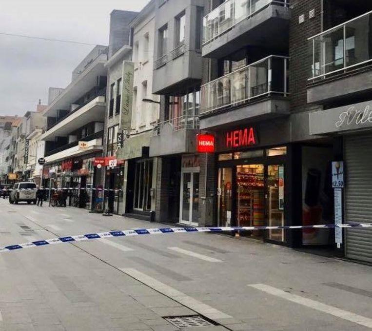 De Kerkstraat in Blankenberge werd plaatselijk afgesloten.