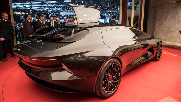 De Lagonda Vision, een elektrische concept car van Aston Martin, die aanleiding vormde voor de ruzie