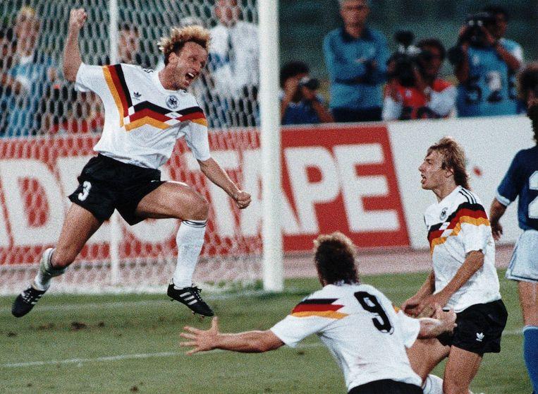 West-Duitsland op het WK in 1990.