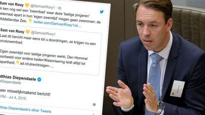 """Commotie rond tweet Vlaams Belanger Sam Van Rooy over lastige jongeren: """"Misselijkmakend bericht"""""""