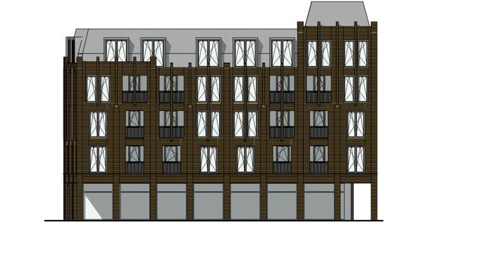 Ontwerp van het nieuwe zorgcomplex aan de Ameidestraat in Helmond.
