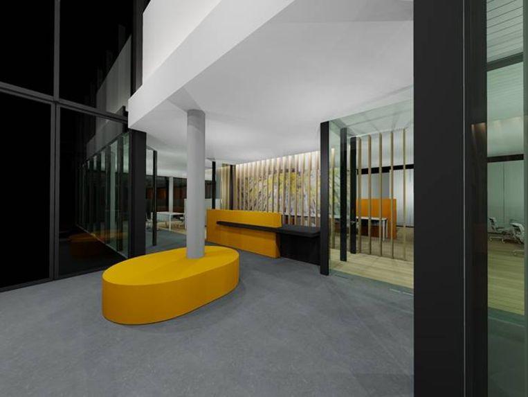 Enkele visualisaties van het nieuwe interieur van het gemeentehuis - De nieuwe onthaalbalie
