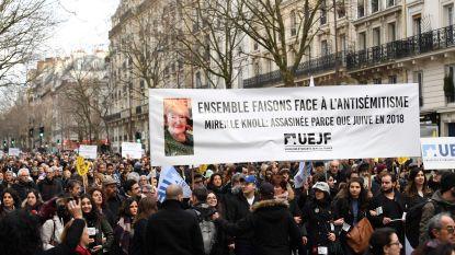 """Duizenden Fransen op protestmars tegen antisemitische moord Parijs: """"Wat nazi's niet konden, heeft crapuul met zelfde haat nu wel gedaan"""""""