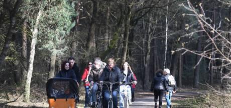 Het is druk in het bos bij Sint Anthonis