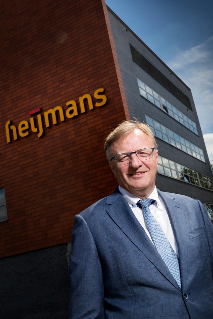 Ton Hillen, de ceo van Heijmans in Rosmalen. Het bedrijf presenteert vandaag de cijfers over het eerste halfjaar van 2019.
