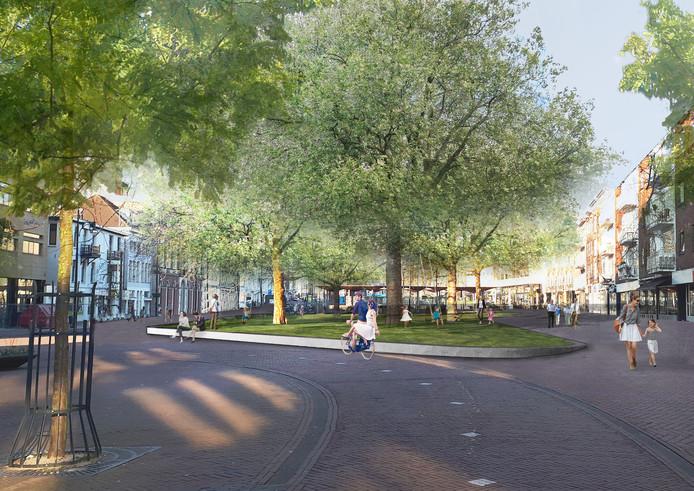 Zo komt het luwe gedeelte van het Gele Rijdersplein eruit te zien.