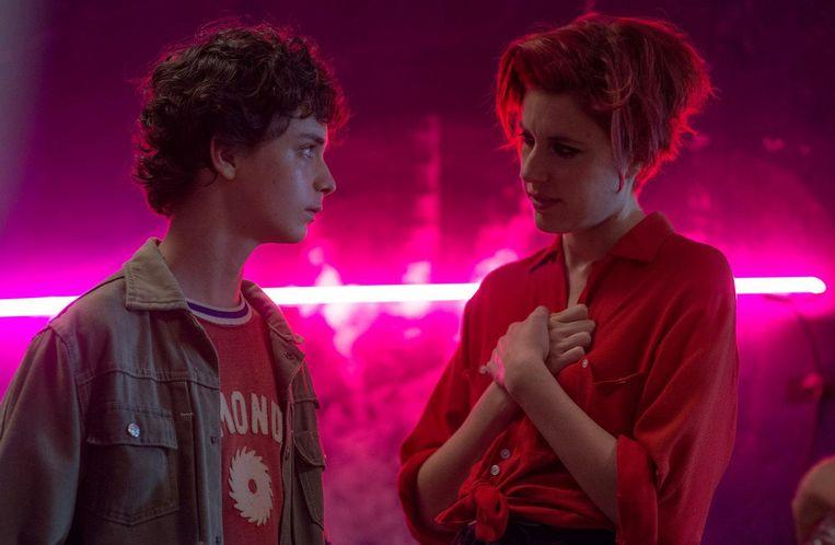 Lucas Jade Zumann en Greta Gerwig. Beeld null