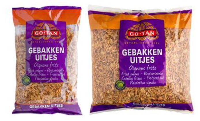 De gebakken uitjes van Go-Tan bevatten mogelijk metaaldeeltjes