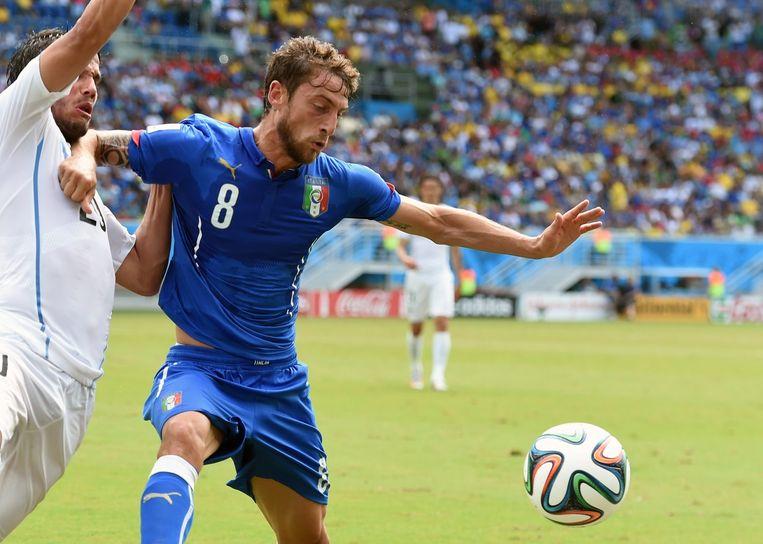 Claudio Marchisio met rood naar de kant Beeld AFP