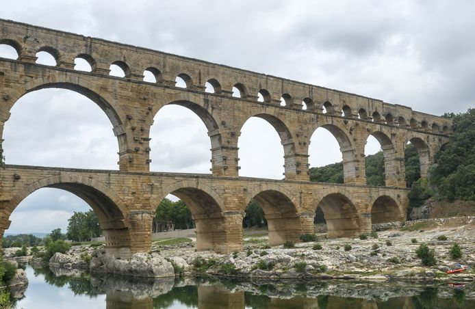 Le pont du Gard, en France.