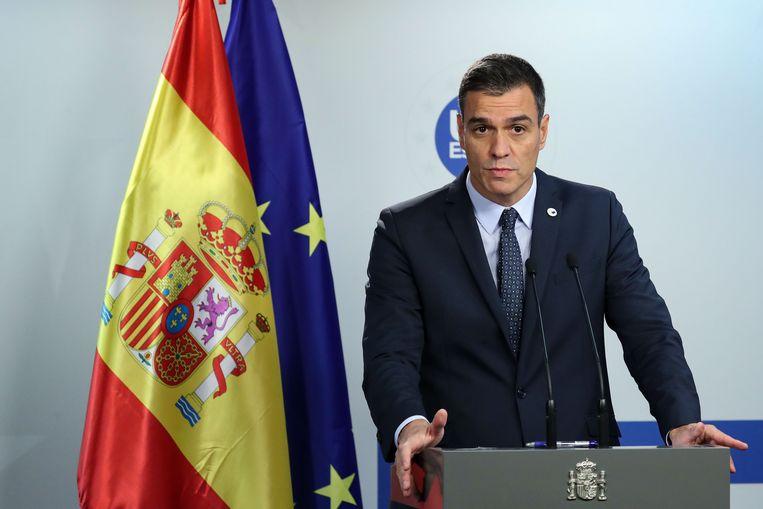 De Spaanse premier Pedro Sanchez