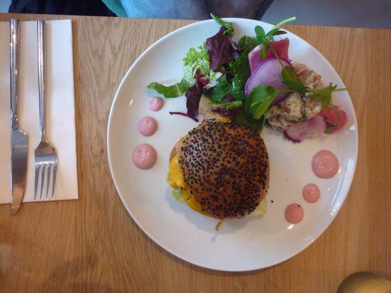 Veganistische hamburger Beeld Marjon Bolwijn