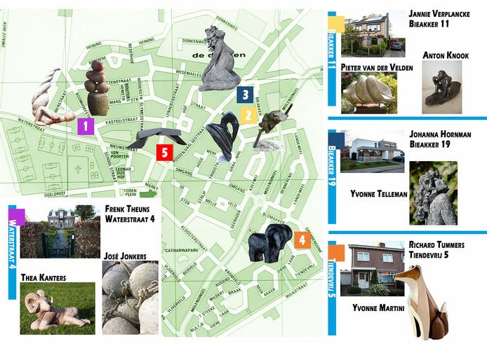 Kunstenaars tonen hun werk in privétuinen in en rond Wouw