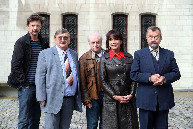 De Collega's met Tuur De Weert, Rene Verreth, Nora Tilley, Jaak Van Assche en Ben Segers.