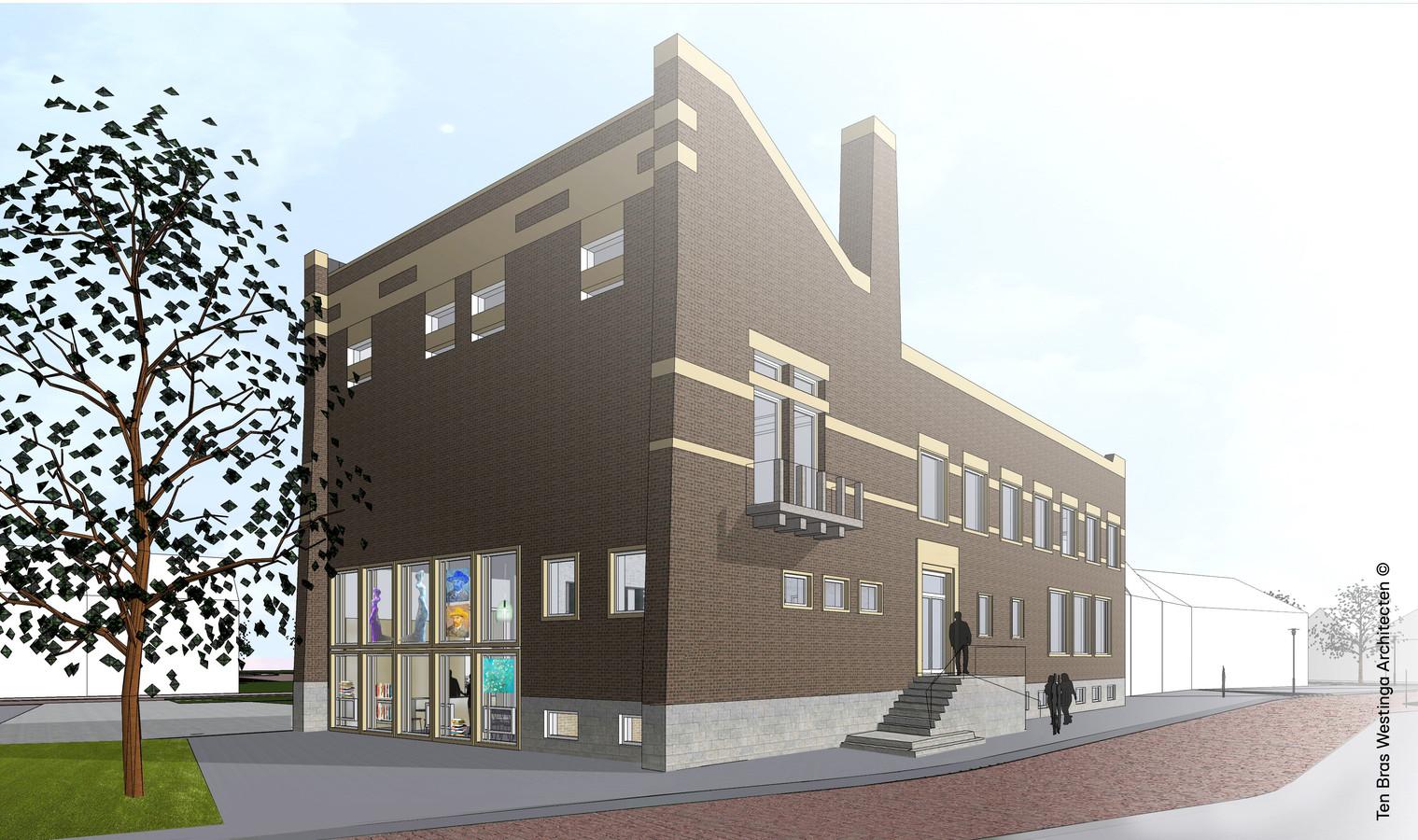 Toekomstige invulling van oude raadhuis Schijndel. Het ontwerp is van Maaike Westinga van TenBrasWestinga.