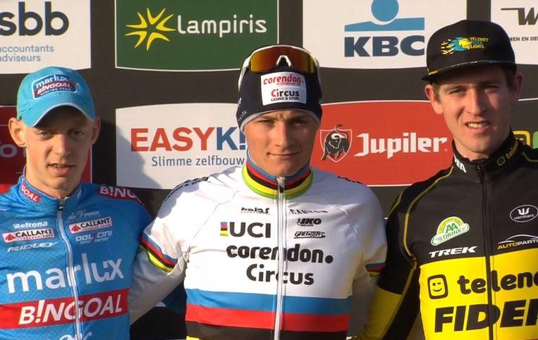 Vanthourenhout, Van der Poel en Aerts.