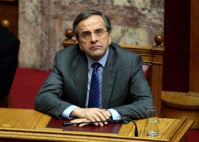 De Griekse premier Antonis Samaras.