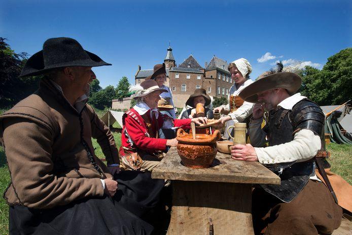 Een middeleeuws festijn bij Huis Bergh in 's-Heerenberg. Foto: Theo Kock