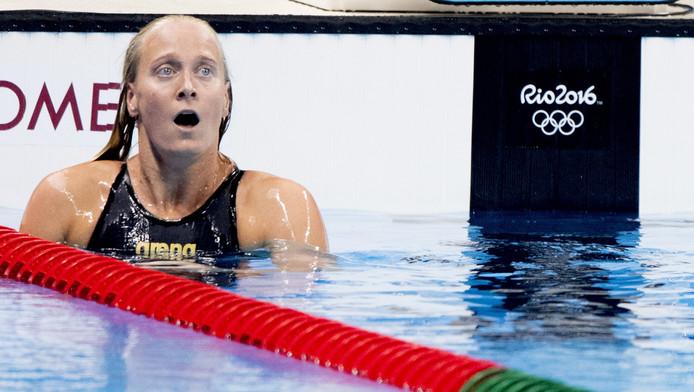 Inge Dekker was beste tevreden over haar Spelen maar won geen medaille.