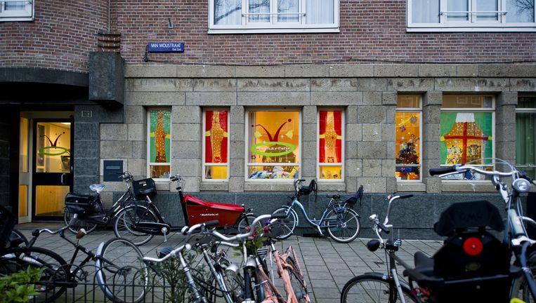 Het kinderdagverblijf het Hofnarretje aan de Van Woustraat in Amsterdam. Beeld anp