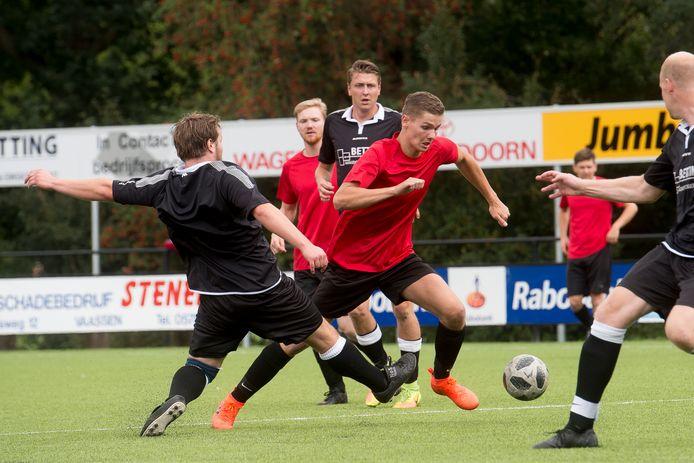De familie Oortwijn in actie tijdens het vijftigste KCVO Sportfestijn in Vaassen.