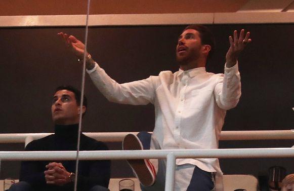 Ramos miste de match tegen Ajax door een schorsing.
