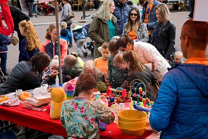 De vrijmarkt gisteren in Bergeijk.