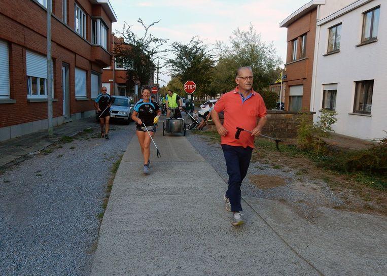De Landense Joggingclub in actie.