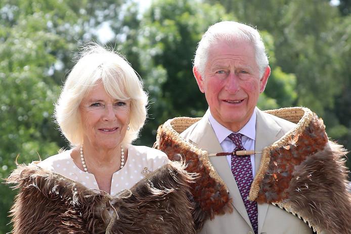 Charles et Camilla, en visite en Nouvelle-Zélande, le 22 novembre 2019.