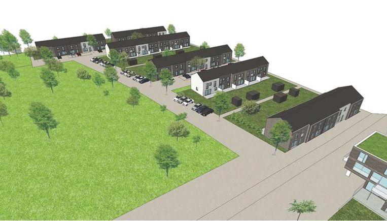 In de eerste fase van het project Achtegael in Melsbroek zouden 58 sociale woningen gebouwd worden.