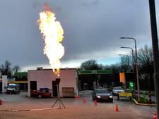 Spektakel bij affakkelen LPG in Almelo