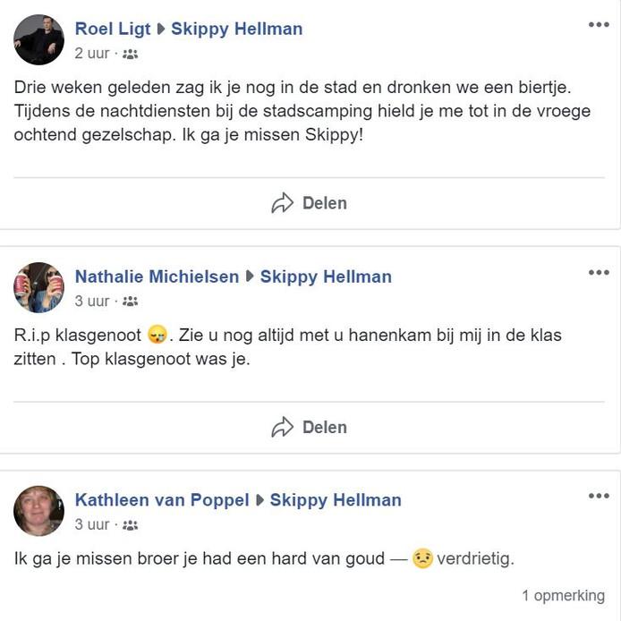 Reacties op het overlijden van Skippy