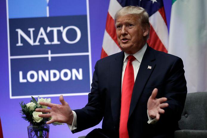 President Donald Trump tijdens de NAVO-top in Londen, december 2019.