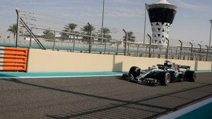 Hamilton klokt snelste tijd in derde vrije oefensessie Abu Dhabi, Vandoorne 19e