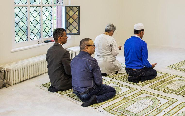 De Ibn Rushd Goethe-moskee is gevestigd in een zaaltje van een Berlijns kerkgebouw. Beeld Hollandse hoogte